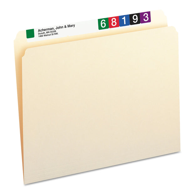 MANILA FILE FOLDERS, STRAIGHT TAB, LETTER SIZE, 100/BOX