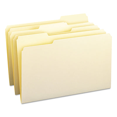 MANILA FILE FOLDERS, 1/3-CUT TABS, LEGAL SIZE, 100/BOX