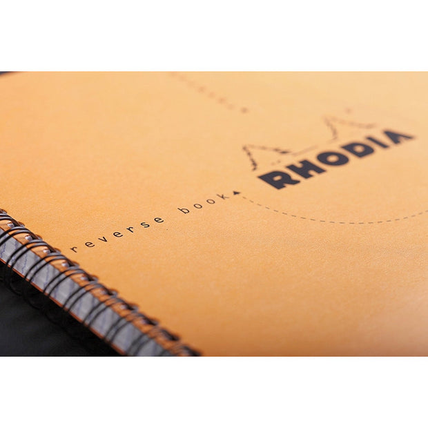 Rhodia Reverse Book - Graph 80 sheets - 8 1/4 x 8 1/4 - Orange cover