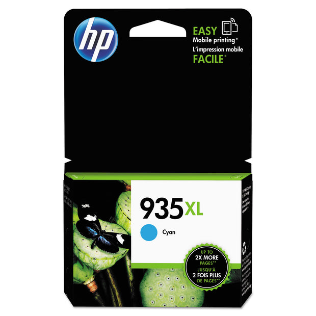 Hp 935xl, (c2p24an) High Yield Cyan Original Ink Cartridge