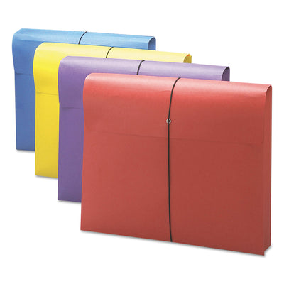 "EXPANDING WALLET W/ ANTIMICROBIAL PRODUCT PROTECTION, 2"" EXPANSION, 1 SECTION, LETTER SIZE, ASSORTED, 4/PACK"