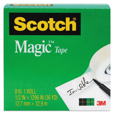 "MAGIC TAPE REFILL, 1"" CORE, 0.75"" X 36 YDS, CLEAR"
