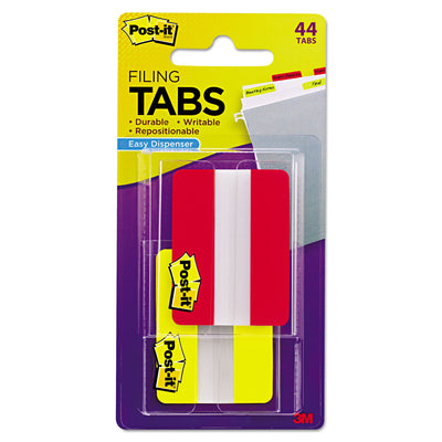 "2"" AND 3"" TABS, 1/5-CUT TABS, ASSORTED COLORS, 2"" WIDE, 44/PACK"