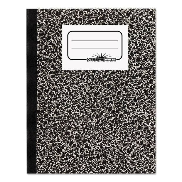 Composition Notebook, Wide/Legal Rule, Black Marble Cover, 10 x 7.88, 80 Sheets