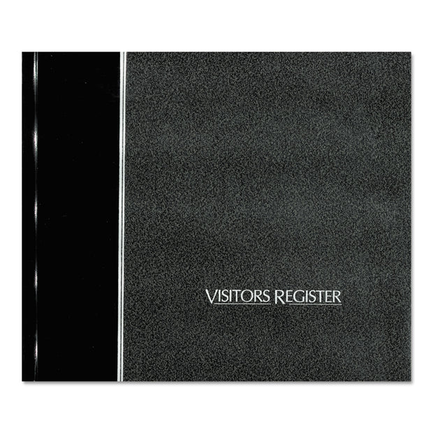 Visitor Register Book, Black Hardcover, 128 Pages, 8 1/2 X 9 7/8