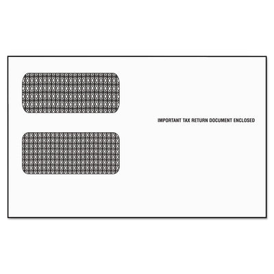 1099 DOUBLE WINDOW ENVELOPE, COMMERCIAL FLAP, SELF-ADHESIVE CLOSURE, 5.63 X 9.5, WHITE, 24/PACK