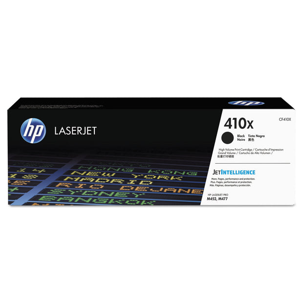 HP 410X, (CF410X) HIGH YIELD BLACK ORIGINAL LASERJET TONER CARTRIDGE