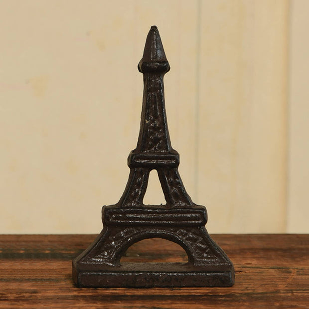 Eiffel Tower Place Card Holder - Cast Iron - Brown