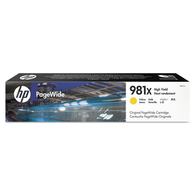 HP 981X, (L0R11A) HIGH YIELD YELLOW ORIGINAL PAGEWIDE CARTRIDGE