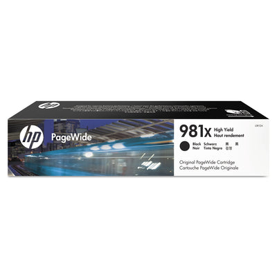 HP 981X, (L0R12A) HIGH YIELD BLACK ORIGINAL PAGEWIDE CARTRIDGE