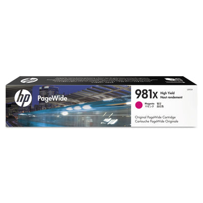 HP 981X, (L0R10A) HIGH YIELD MAGENTA ORIGINAL PAGEWIDE CARTRIDGE