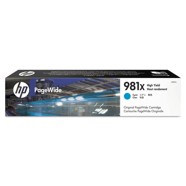 HP 981X, (L0R09A) HIGH YIELD CYAN ORIGINAL PAGEWIDE CARTRIDGE