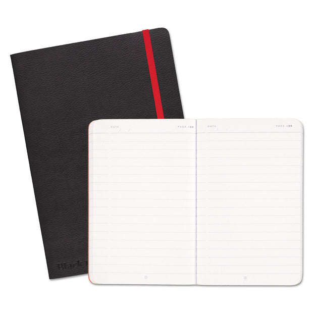 Black Soft Cover Notebook, Wide/Legal Rule, Black Cover, 8.25 x 5.75, 71 Sheets