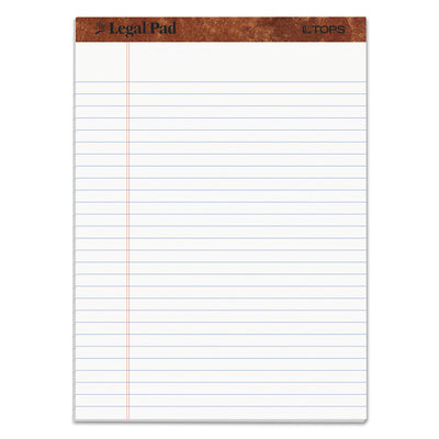 """THE LEGAL PAD"" RULED PADS, WIDE/LEGAL RULE, 8.5 X 11.75, WHITE, 50 SHEETS, DOZEN"