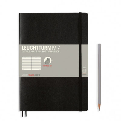 Leuchtturm B5 Softcover Notebook - Black - Ruled