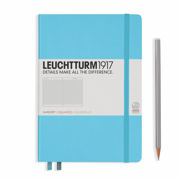 Leuchtturm A5 Hardcover Notebook - Ice Blue - Squared