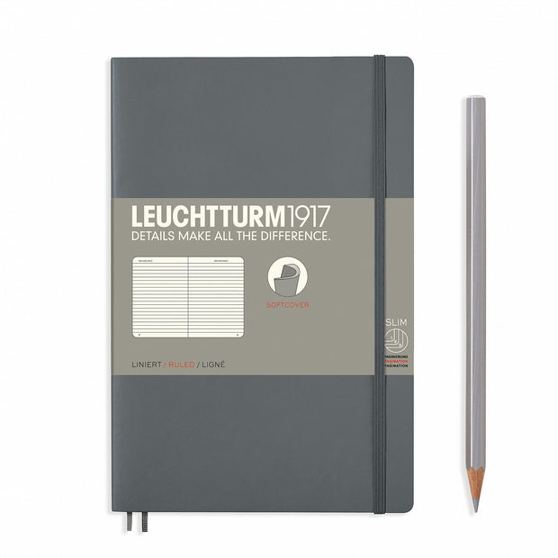 Leuchtturm B6+ Softcover Notebook - Anthracite - Ruled