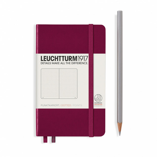 Leuchtturm A6 Hardcover Notebook - Port Red - Dot Grid