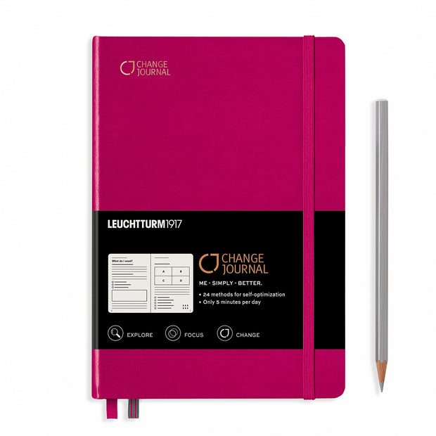 Leuchtturm A5 Hardcover Change Journal - Berry