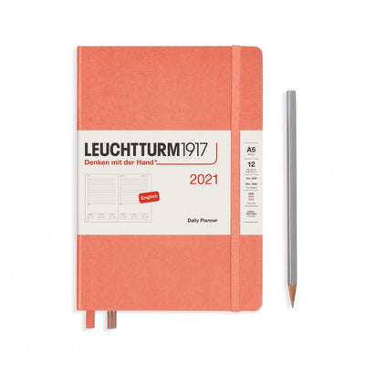 "Daily Planner - Medium (A5) 5 3/4"" x 8 1/4"" - Bellini"