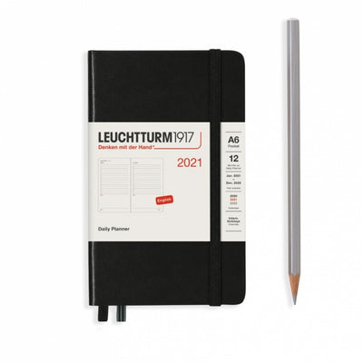 "Daily Planner - Pocket (A6) 3 1/2"" x 6"" - Black"