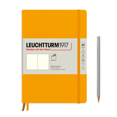 Leuchtturm A5 Softcover Notebook - Rising Sun - Plain