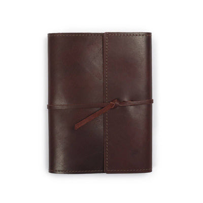 Writers Log Large Refillable Leather Notebook - Burgundy