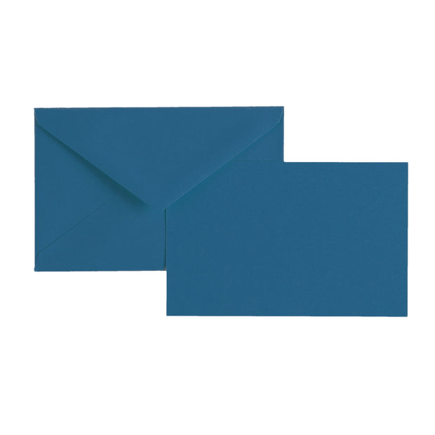 "Vellum Stationery Set - Smooth Finish, Flat Card - 3 1/2"" x 5 1/2"" - Blue"