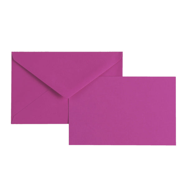 "Vellum Stationery Set - Smooth Finish, Flat Card - 3 1/2"" x 5 1/2"" - Bougainvillea"