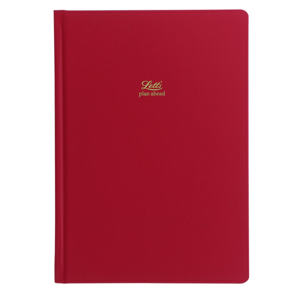 Letts Icon 5 Year Diary - A5 Size - Red
