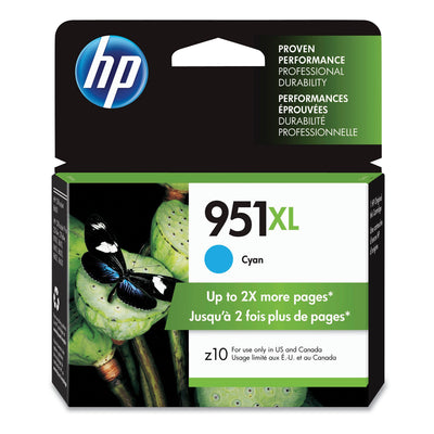 Hp 951xl, (cn046an) High Yield Cyan Original Ink Cartridge