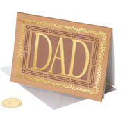 Dad Laser Cut Wood Lettering Father's Day Greeting Card