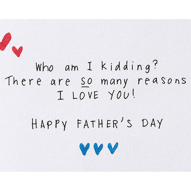 Why I Love You Father's Day Greeting Card