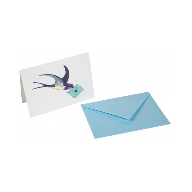 Straight-Edge Fold Over Card - Swallow