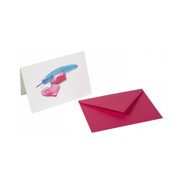 Straight-Edge Fold Over Card - Nib & Heart