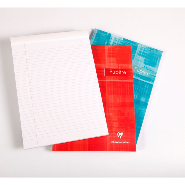 Clairefontaine Staplebound Notepad - Ruled w/ margin 80 sheets - 8 1/2 x 11 3/4 - Assorted