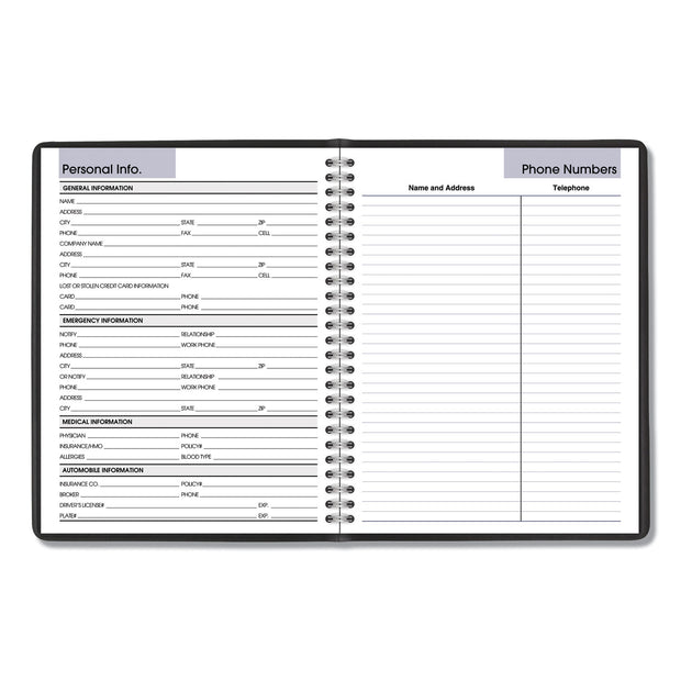 Monthly Planner, 8.75 x 7, Black
