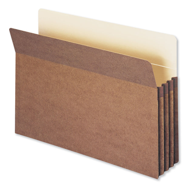 "Redrope Drop Front File Pockets, 3.5"" Expansion, Legal Size, Redrope, 50/Box"