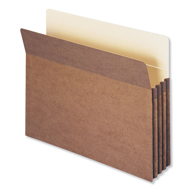 "Redrope Drop Front File Pockets, 3.5"" Expansion, Letter Size, Redrope, 50/Box"