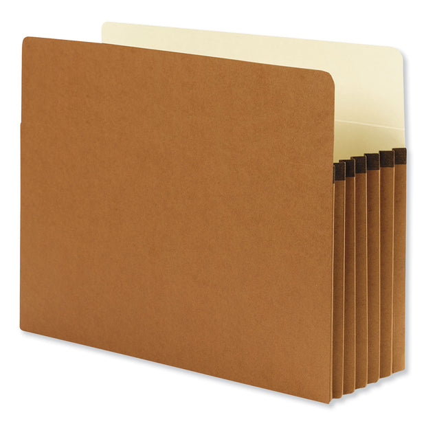 "REDROPE DROP FRONT FILE POCKETS, 5.25"" EXPANSION, LETTER SIZE, REDROPE, 10/BOX"