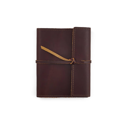Writers Log Small Refillable Leather Notebook - Burgundy