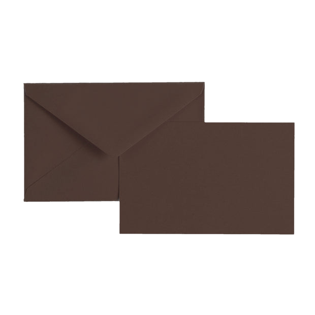 "Vellum Stationery Set - Smooth Finish, Flat Card - 3 1/2"" x 5 1/2"" - Brown"