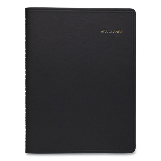 Weekly Appointment Book, 11 x 8.25, Black Cover