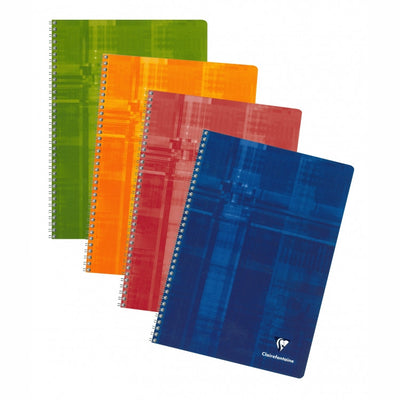 Clairefontaine Wirebound Notebook - French ruled 50 sheets - 8 1/4 x 11 3/4 - Assorted