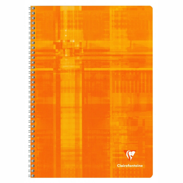Clairefontaine Wirebound Notebook - Ruled w/margin 50 sheets - 8 1/4 x 11 3/4 - Assorted