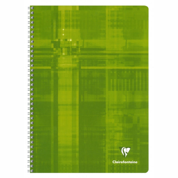 Clairefontaine Wirebound Notebook - French ruled 60 sheets - 6 3/4 x 8 3/4 - Assorted