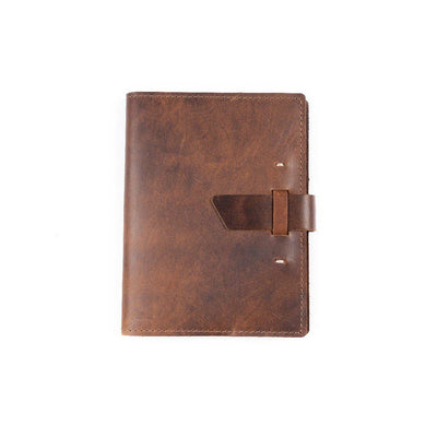 Switchback Leather Notebook - Saddle