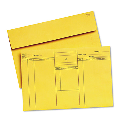 ATTORNEY'S ENVELOPE/TRANSPORT CASE FILE, CHEESE BLADE FLAP, FOLD FLAP CLOSURE, 10 X 14.75, CAMEO BUFF, 100/BOX
