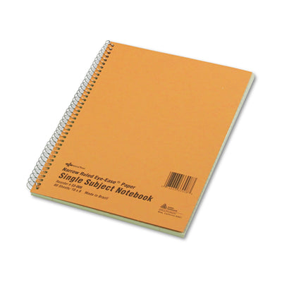 SINGLE-SUBJECT WIREBOUND NOTEBOOKS, 1 SUBJECT, NARROW RULE, BROWN COVER, 10 X 8, 80 SHEETS