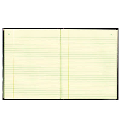 Texthide Record Book, Black/burgundy, 150 Green Pages, 10 3/8 X 8 3/8
